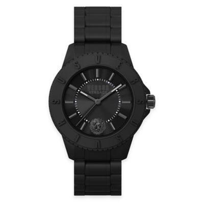 Versus by Versace Men's 42mm Tokyo Watch in Black Silicone with Black Silicone Strap