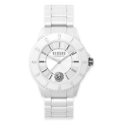 Versus by Versace Men's 42mm Tokyo Watch in White Silicone with White Silicone Strap