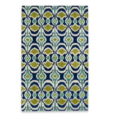 Kaleen Global Inspirations Leon Ikat 3-Foot 6-Inch x 5-Foot 6-Inch Area Rug in Blue