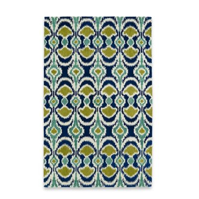 Kaleen Global Inspirations Leon Ikat 5-Foot x 7-Foot 9-Inch Area Rug in Blue