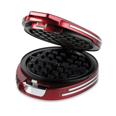 Nostalgia™ Electrics Retro Round Waffle Maker in Red