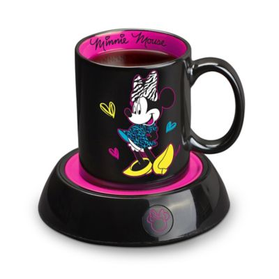 Disney® Minnie Mouse Mug Warmer and Mug in Black/Pink