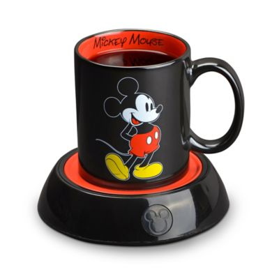 Disney® Mickey Mouse Mug Warmer and Mug in Black / Red