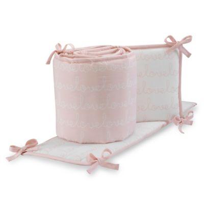 Lambs & Ivy® Sweetheart 4-Piece Crib Bumper