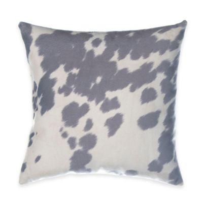 Glenna Jean Luna Cowhide Throw Pillow in Grey