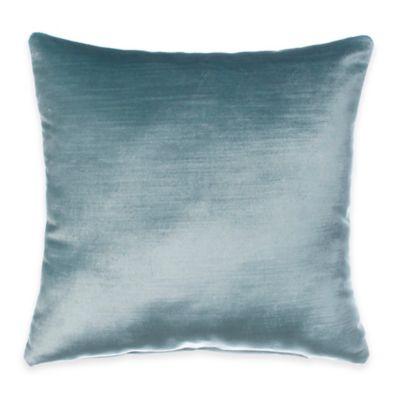 Traffic Jam Velvet Throw Pillow in Blue