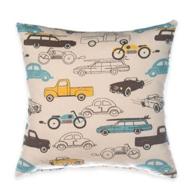 Glenna Jean Traffic Jam Car Print Throw Pillow