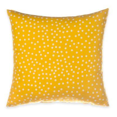 Glenna Jean Traffic Jam Throw Pillow in Yellow Dot