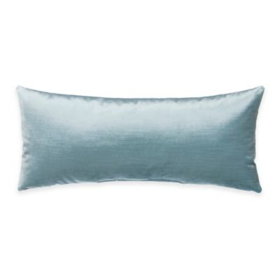 Glenna Jean Traffic Jam Oblong Velvet Throw Pillow in Blue