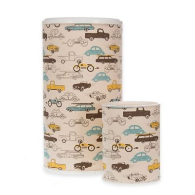 Glenna Jean Traffic Jam Hamper and Wastebasket Set
