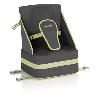 babymoov® Up & Go Travel Booster Seat in Zinc/Almond