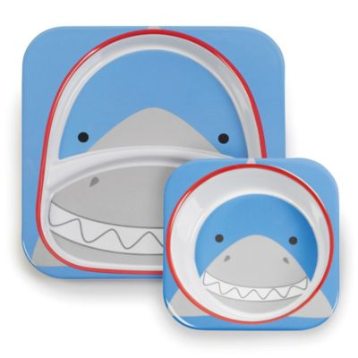 SKIP*HOP® Zoo 2-Piece Melamine Tableware Set in Shark