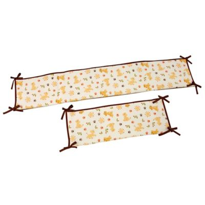 """Disney® """"Lion King"""" Wild About You 4-Piece Traditional Padded Crib Bumper Set"""