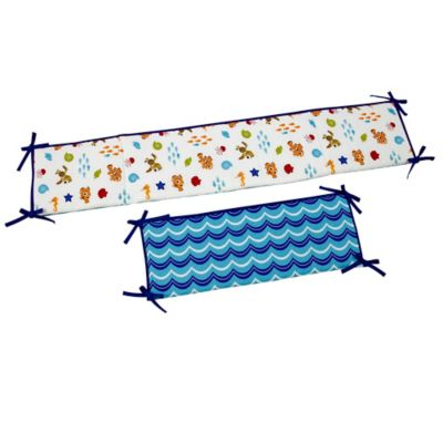 Disney® Nemo's Wavy Days 4-Piece Traditional Padded Crib Bumper Set