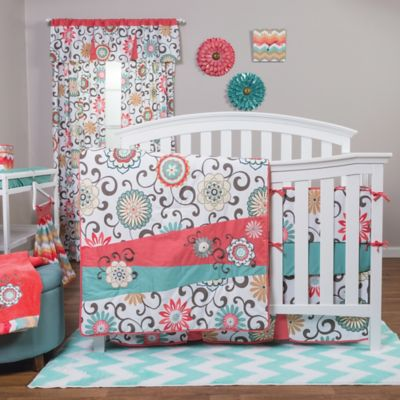 Trend Lab® Waverly® Pom Pom Play Chevron Fitted Crib Sheet