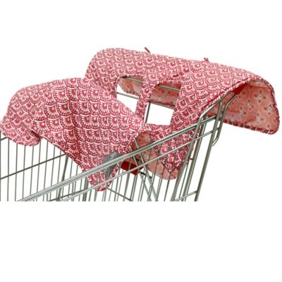 The Peanut Shell® High Chair and Shopping Cart Cover in Coral Scallop