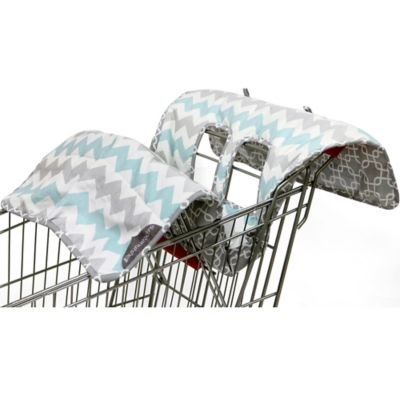The Peanut Shell® High Chair and Shopping Cart Cover in Grey Chevron