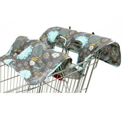 The Peanut Shell® High Chair and Shopping Cart Cover in Grey Medallion