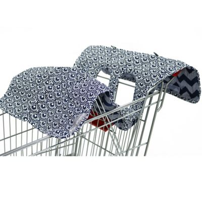 The Peanut Shell® High Chair and Shopping Cart Cover in Navy Scallop