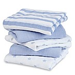 aden® by aden + anais®  5-Pack Muslin Dashing Squares in Blue