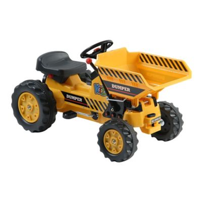 Dexton Pedal Tractor with Dump Bucket in Yellow