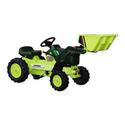 Dexton Pedal Tractor with Loader in Green