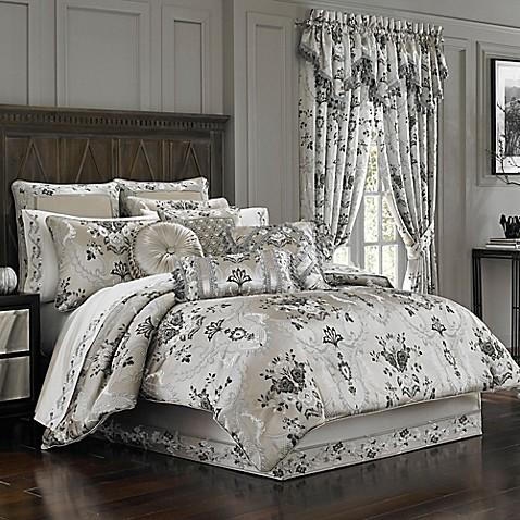 J Queen New York Alessandra Comforter Set In Smoke Bed