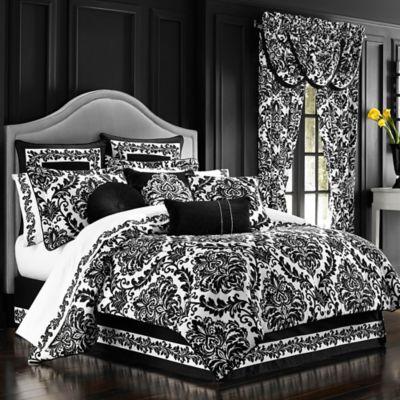 J. Queen New York™ Cambridge Queen Comforter Set in Black