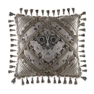 J. Queen New York™ Alessandra Mitered Square Throw Pillow in Smoke