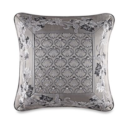 J. Queen New York™ Alessandra Embroidered Square Throw Pillow in Smoke