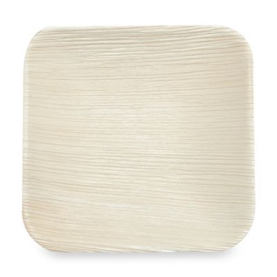 Square 6-Inch Palm Leaf Plates (Set of 10)