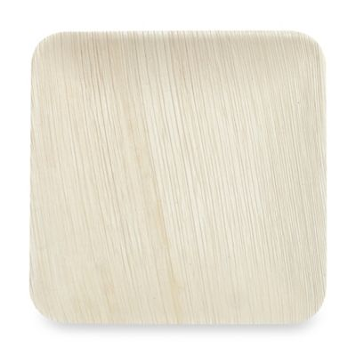 Square 8-Inch Palm Leaf Plates (Set of 25)