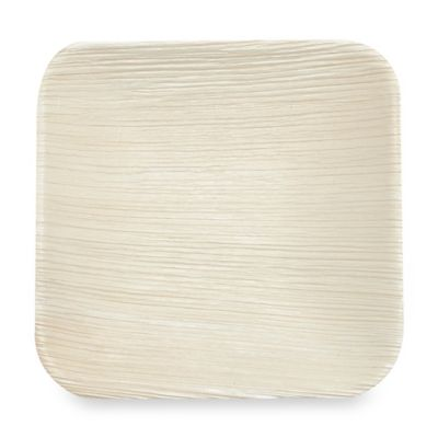 Square 6-Inch Palm Leaf Plates (Set of 100)