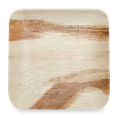 Square 10-Inch Palm Leaf Plates (Set of 100)