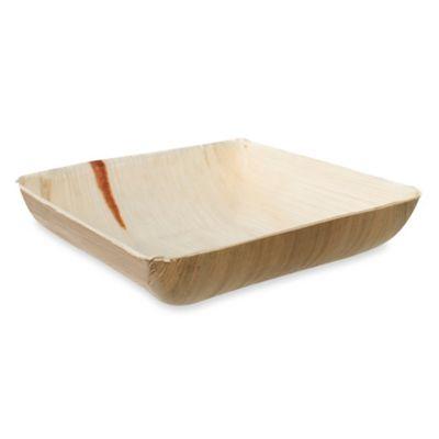 Square 7-Inch Palm Leaf Bowls