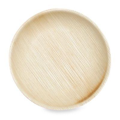 Round 6-Inch Palm Leaf Plates