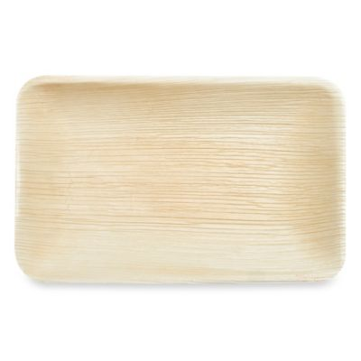 Rectangular 12-Inch Palm Leaf Serving Trays (Set of 10)