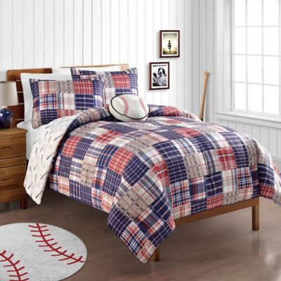 VCNY Homerun 3-Piece Reversible Twin Comforter Set in Blue/Red