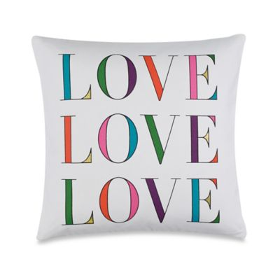 kate spade new york LOVE Throw Pillow in White