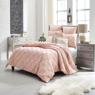 Anthology™ Mina Pom Pom European Pillow Sham in Blush