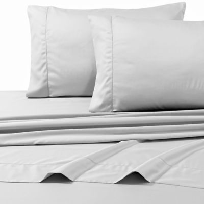 800-Thread-Count Egyptian Cotton Deep Pocket King Sheet Set in Silver