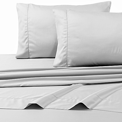 buy 800 thread count egyptian cotton deep pocket queen sheet set in silver from bed bath beyond. Black Bedroom Furniture Sets. Home Design Ideas