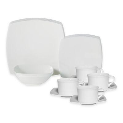 Mikasa® Elegance White 20-Piece Dinnerware Set
