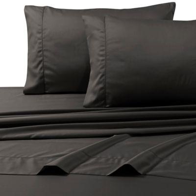 800-Thread-Count Egyptian Cotton Deep Pocket King Sheet Set in Steel