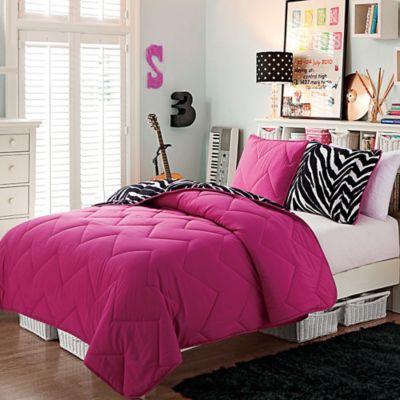 VCNY Juniper 3-Piece Reversible Full Comforter Set in Pink