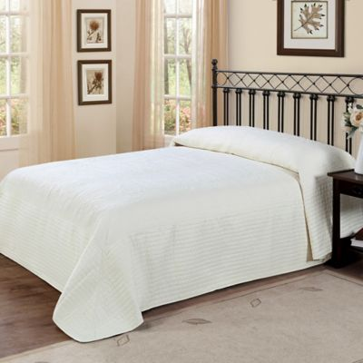 French Tile King Bedspread in Ivory
