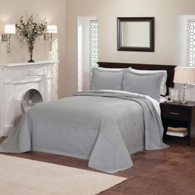 French Tile King Bedspread in White