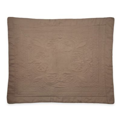 French Tile Standard Pillow Sham in Taupe