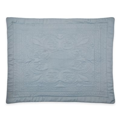 French Tile King Pillow Sham in Dusty Blue