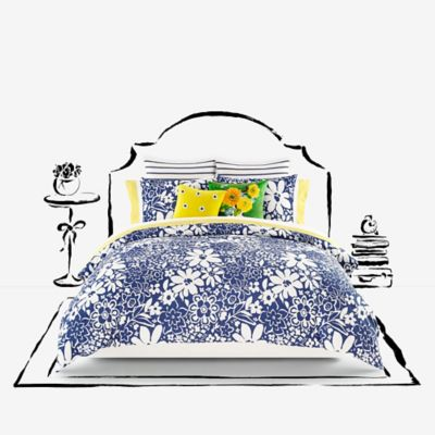 kate spade new york Monaco Twin Comforter Set in Navy